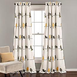 Rowley Birds Room Darkening Rod Pocket Window Curtain Panel