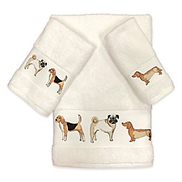 Avanti Dogs on Parade Bath Towel Collection in Ivory