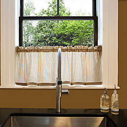 Heritage Lace® Ticking 55-Inch Window Valance in Tan/White