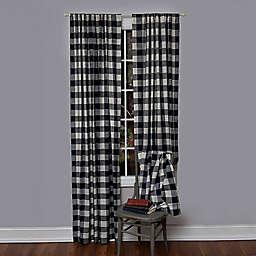 Heritage Lace Reg Buffalo Check Rod Pocket Window Curtain Panel