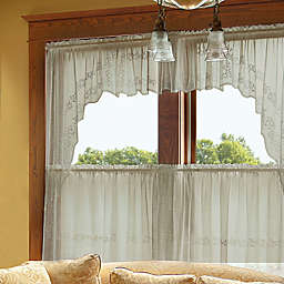 Heritage Lace® Sheer Divine Window Swag Pair in Flax