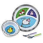 Amazing Baby 4-Piece Melamine Dish Set