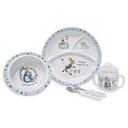 Beatrix Potter 5-Piece Melamine Dish Set in Baby Blue