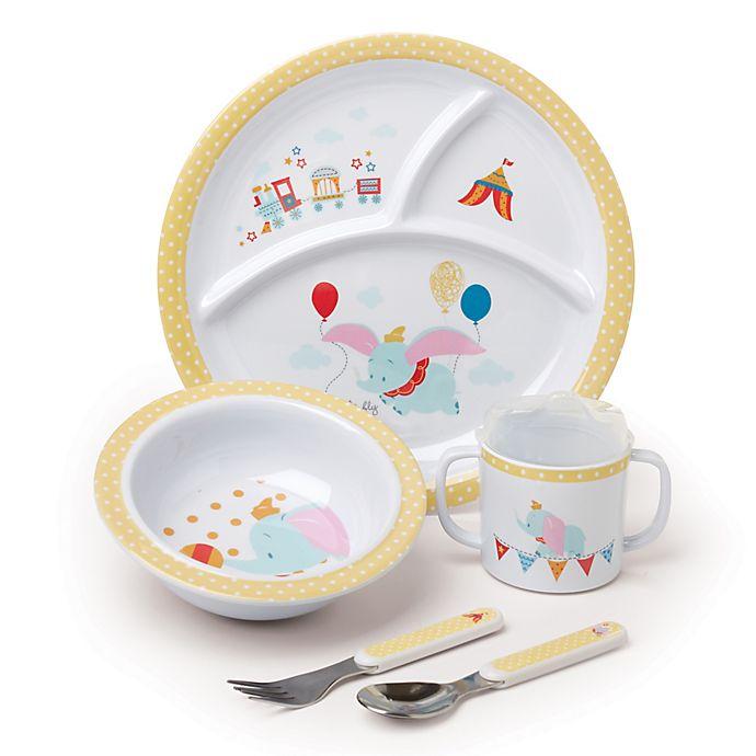 0981e9635f6e4 Disney® Baby Dumbo 5-Piece Melamine Dish Set in Blue | buybuy BABY