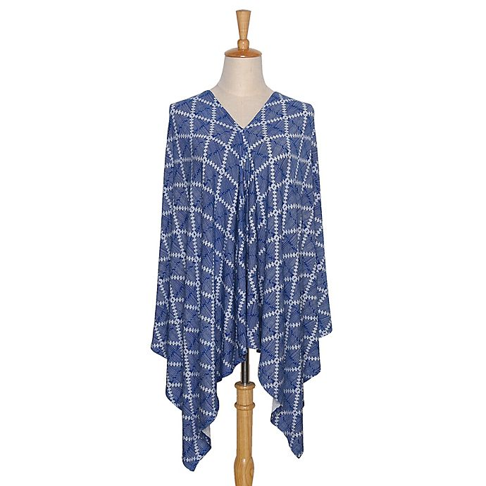 Alternate image 1 for The PeanutShell™ 6-in-1 Nursing Poncho in Navy Aztec