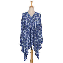 The PeanutShell™ 6-in-1 Nursing Poncho in Navy Aztec