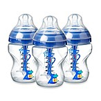 Tommee Tippee® 3-Pack 9 fl. oz. Advanced Anti-Colic Wide-Neck Bottle in Blue