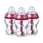 Tommee Tippee Advanced Anti-Colic 3-Pack 9 fl. oz. Decorated Baby Bottles in Pink