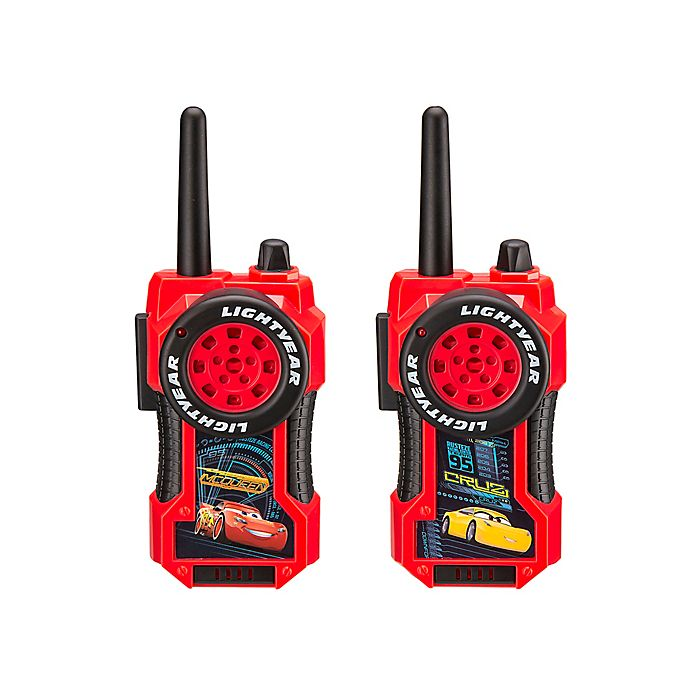 Alternate image 1 for Disney® Pixar Cars FRS Long-Range Walkie Talkies in Red/Black (Set of 2)