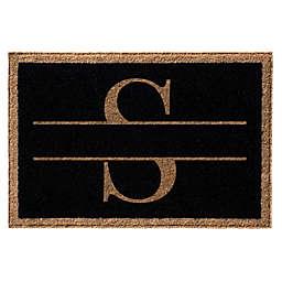 """Infinity Monogram Letter """"S"""" Door Mat in Black"""