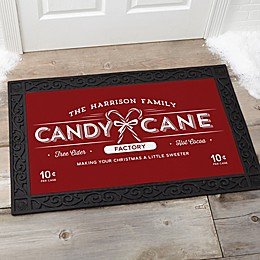 Vintage Holiday Multicolor Door Mat
