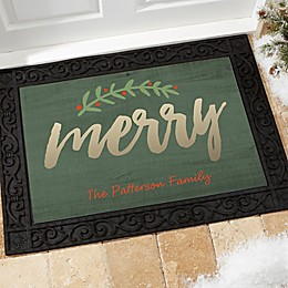 Cozy Christmas Multicolor Door Mat