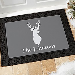 Winter Silhouette Multicolor Door Mat