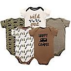 Luvable Friends® Size 12-18M 5-Pack Happy Camper Bodysuit