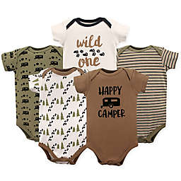 Luvable Friends® Size 3-6M 5-Pack Happy Camper Bodysuit