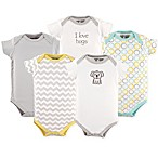 Luvable Friends® Size 6-9M 5-Pack Koala Bodysuit