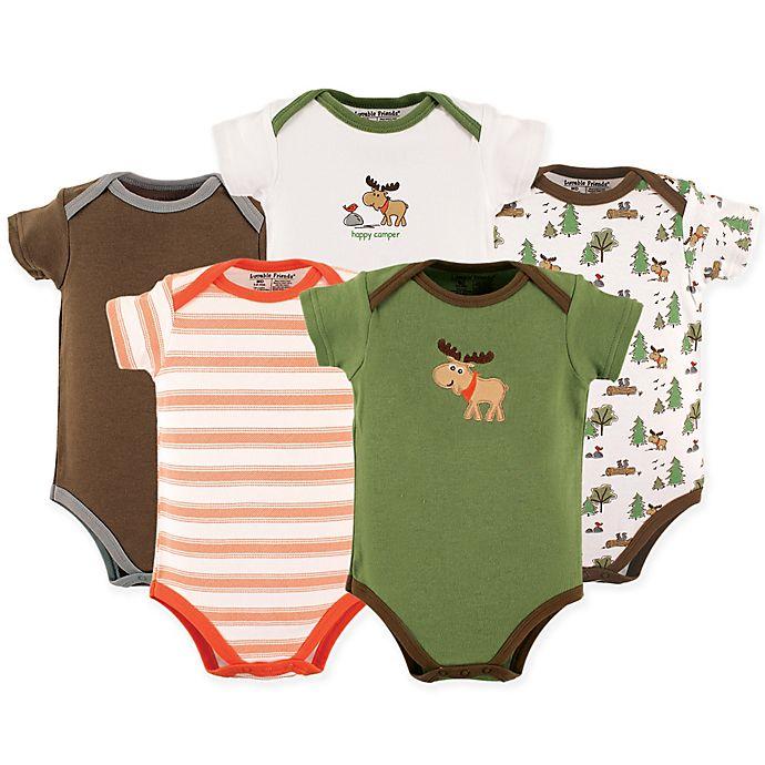 dddf44e1f777 Luvable Friends® 5-Pack Moose Bodysuit | buybuy BABY