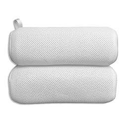 Plush Bath Pillow in White