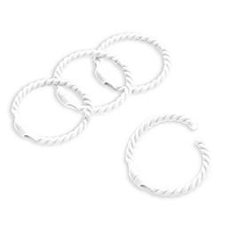 Smart Rings Plastic Rope Shower Rings in White (Set of 12)