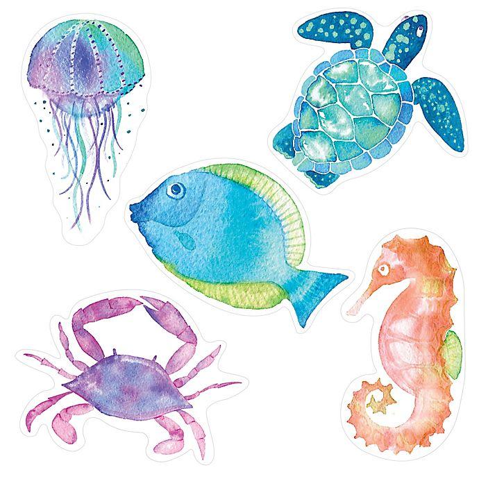 Alternate image 1 for Aqua Touch Sealife Tub Appliqués in Blue (Set of 5)