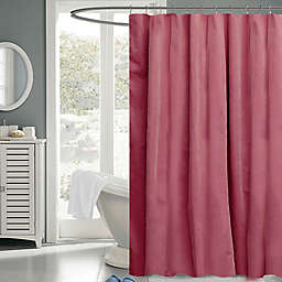 Cotton Twill 72-Inch x 72-Inch Fabric Shower Curtain in Pink