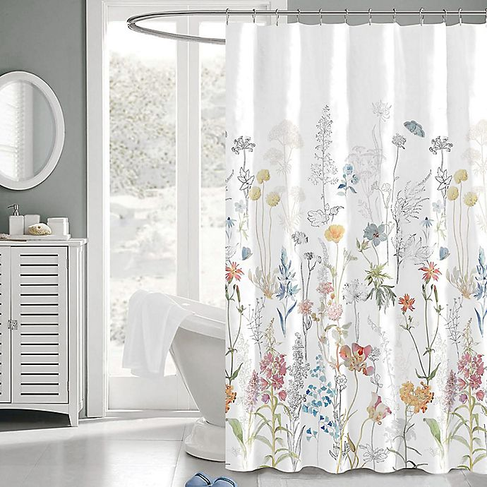 Alternate image 1 for Penrhyn 72-Inch x 72-Inch Floral Fabric Shower Curtain