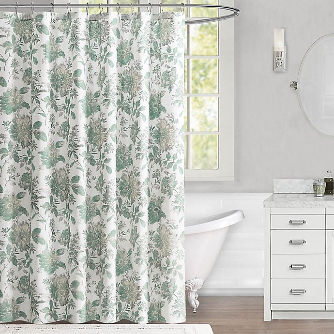 Alternate image 1 for Abelie 72-Inch x 72-Inch Shower Curtain in Mineral Blue