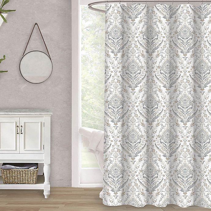Frieda 72 Inch X Shower Curtain In Neutral