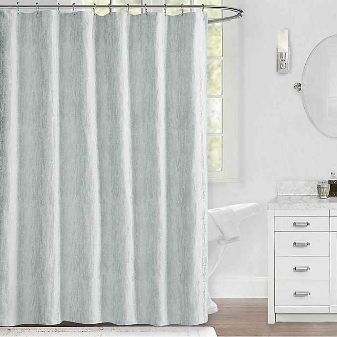 Alternate image 1 for Callie 72-Inch x 72-Inch Shower Curtain in White/Silver