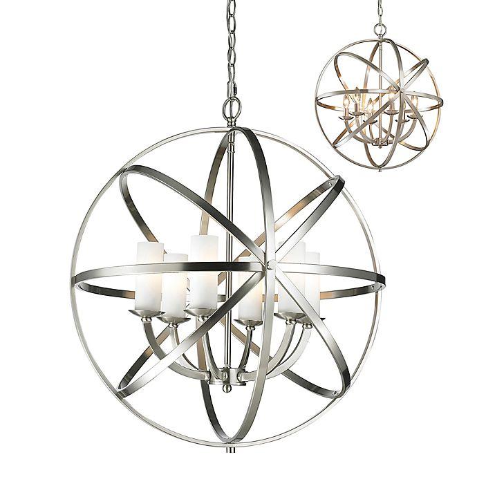 Alternate image 1 for Filament Design Ara 6-Light Pendant in Brushed Nickel