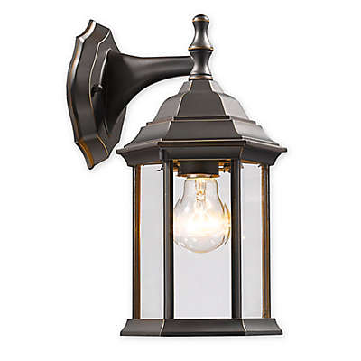 Filament Design Maddox 1-Light Wall-Mount Outdoor Lantern in Oil Rubbed Bronze