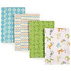 Luvable Friends® 4-Pack Burp Cloth Set in Alphabet