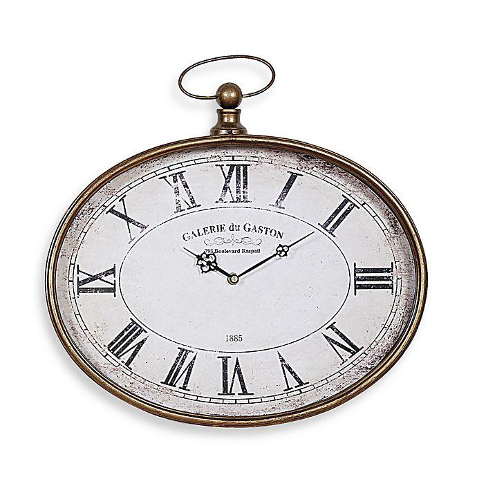 Alternate image 1 for Creative Co-Op Pocket Watch Horizontal Wall Clock