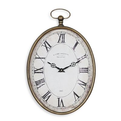 Creative Co Op Pocket Watch Vertical Wall Clock Bed Bath