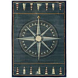 United Weavers Compass Rose Rug in Smoke Blue