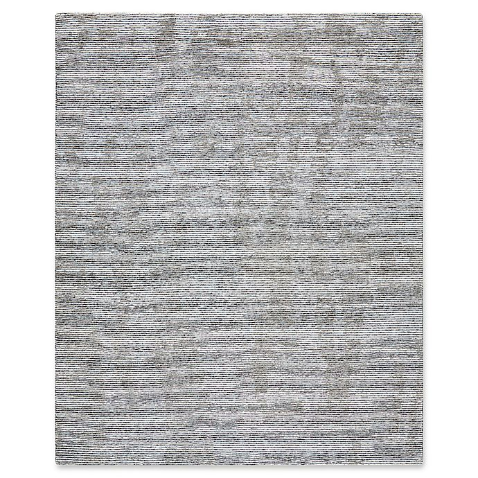 9x12 New Nourison Nourmak Hand Knotted Wool Reversible: Nourison Ellora Hand-Knotted Area Rug In Slate