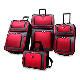 U.S. Traveler New Yorker 4-Piece Wheeled Luggage Set