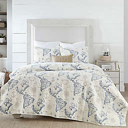 Coastal Living Coastal Map Quilt Set