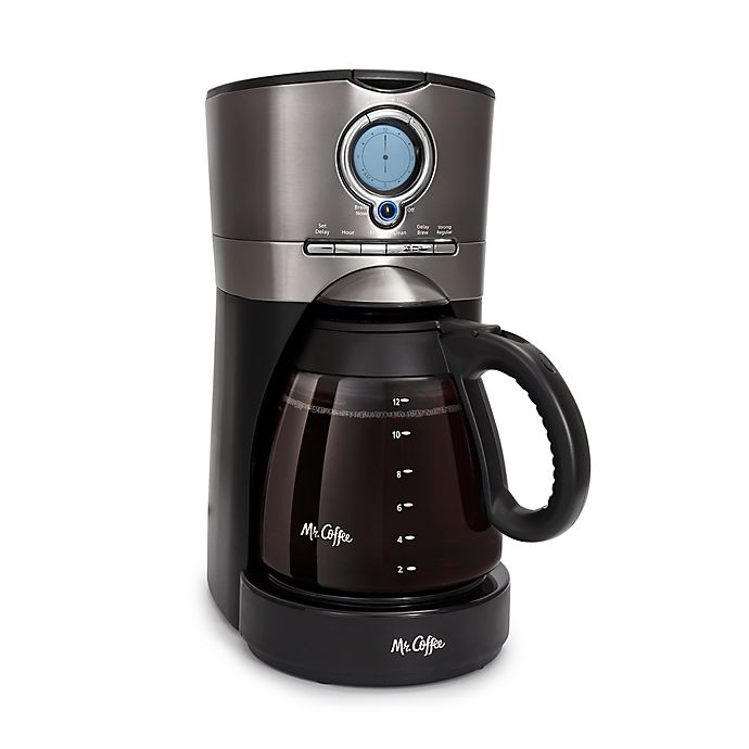 Alternate image 1 for Mr.Coffee® 12-Cup Programmable Automatic Coffee Maker in Black Stainless