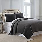 Charisma Regent Velvet Full/Queen Coverlet in Grey