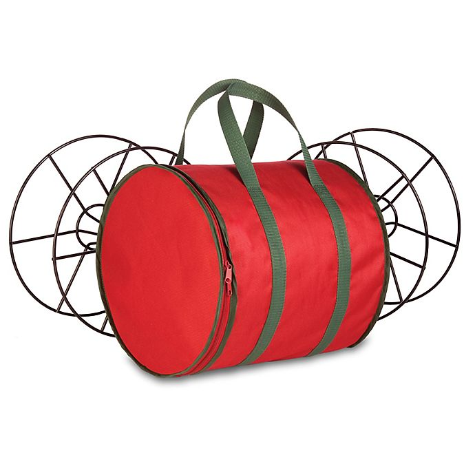 Alternate image 1 for Honey-Can-Do® Holiday Lights Storage Reels and Bag in Red/Green