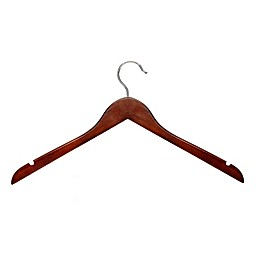 Honey-Can-Do® Wood Clothing Hangers in Cherry (Set of 20)