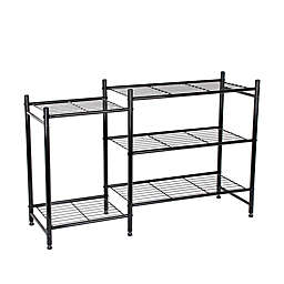 Lifestyle Home Metal Shoe and Boot Rack in Black