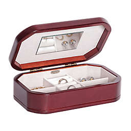 Mele & Co. Morgan Small Wooden Jewelry Box in Cherry Finish