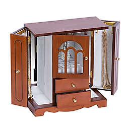 Mele & Co. Windsor Wooden Jewelry Box in Walnut