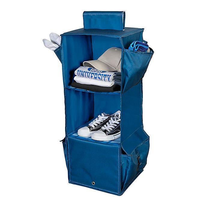 Alternate image 1 for Honey-Can-Do® 3-Shelf Hanging Organizer in Blue