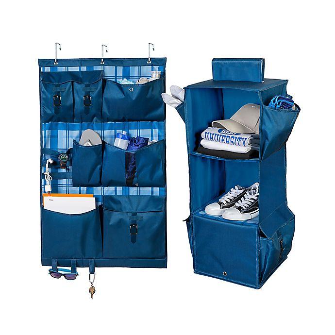 Alternate image 1 for Honey-Can-Do® 2-Piece Closet Organizer Kit in Blue