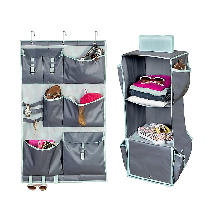 Alternate image 1 for Honey-Can-Do® 2-Piece Closet Organizer Kit in Mint