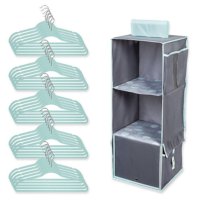 Alternate image 1 for Honey-Can-Do® 2-Piece Closet Organization Kit in Mint