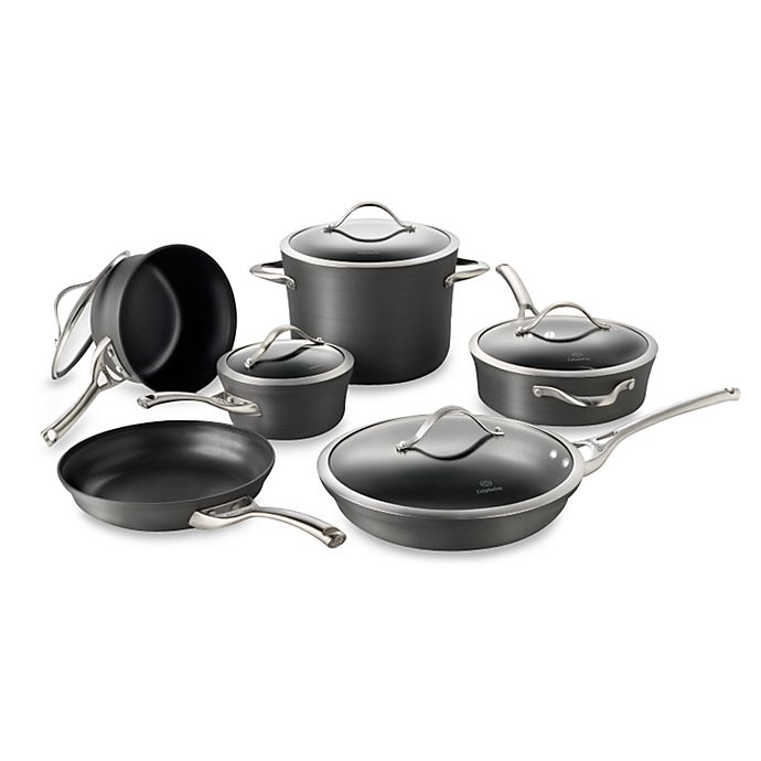 Alternate image 1 for Calphalon® Contemporary™ Nonstick 11-Piece Cookware Set